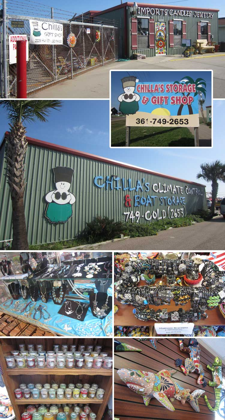 Chillas Storage Amp Gift Shop Port Aransas Texas